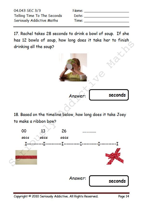 Worksheet Experience - Seriously Addictive Mathematics
